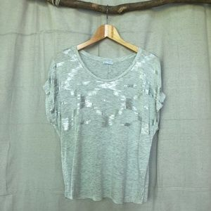 Zara Collection Dolman Tee with Metallic Print
